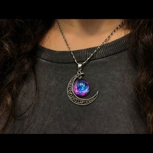 Jewelry - galaxy moon necklace